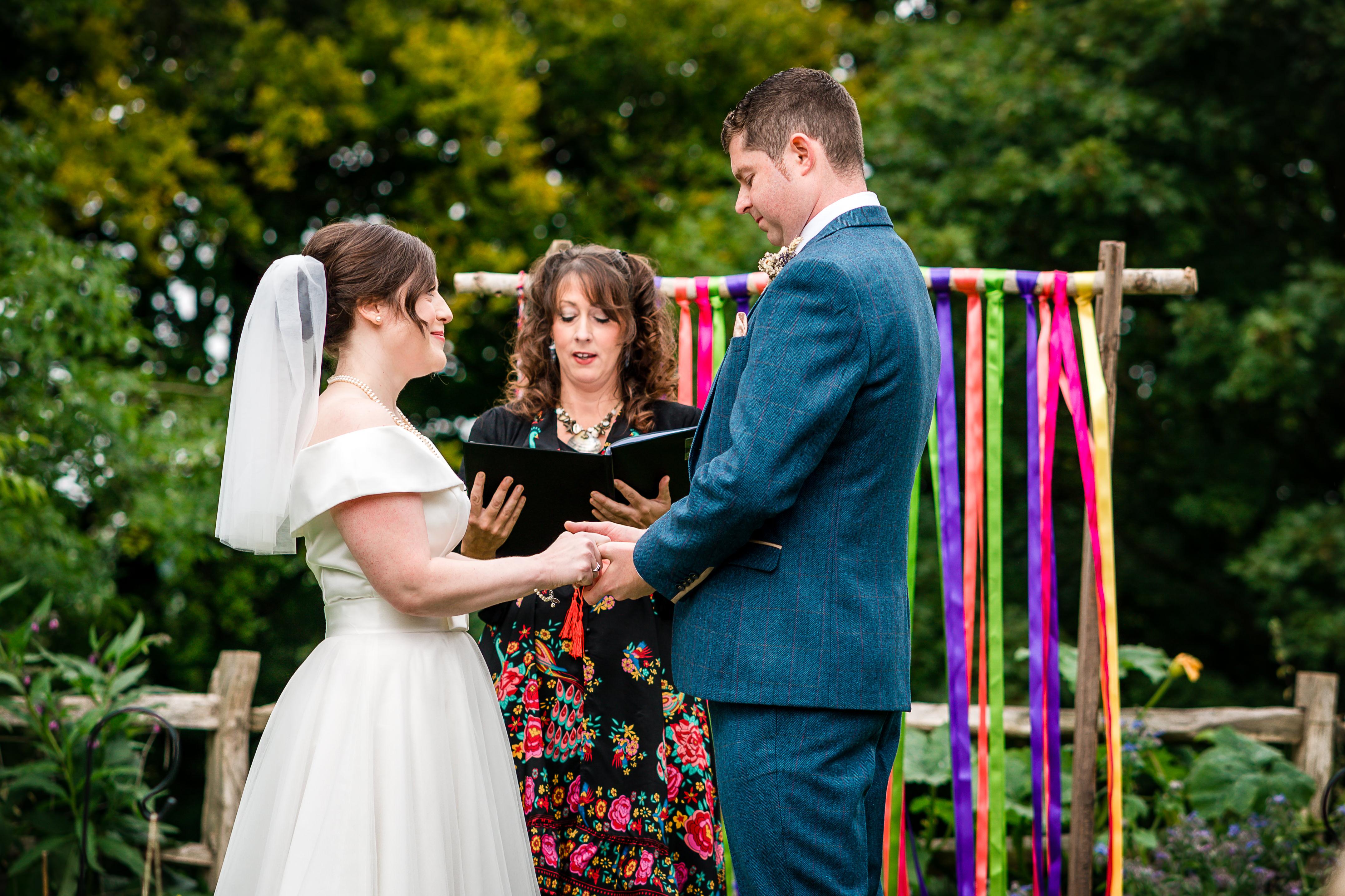 Celebrant photo Allan and Lisa Wedding