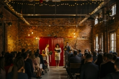 Wedding ceremony at Sheffield Hawks works